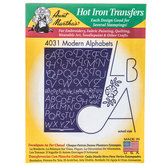 Modern Alphabets Hot Iron Transfers